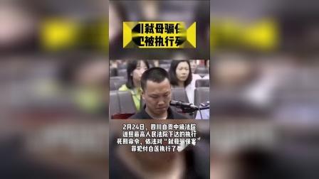 四川弑母骗保案罪犯被执行死刑:为筹买房首付款将母亲电击杀害