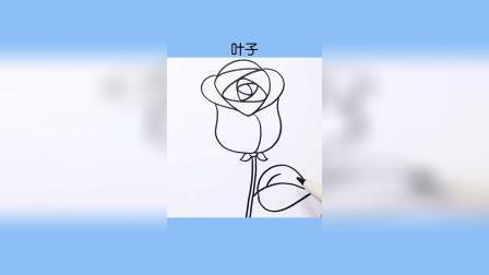 简笔画:这么多玫瑰花的画法,你学会了几种~