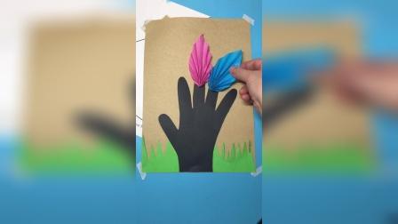 幼儿园作业,手掌画