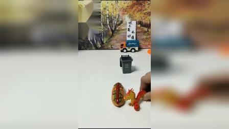 搞笑玩具:飞龙偷走了佩奇的热狗