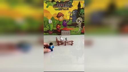 儿童玩具:奥特曼会抓到僵尸吗