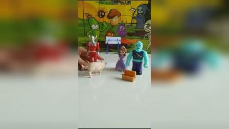 奥特曼玩具:见钱眼开的公主选择了怪兽
