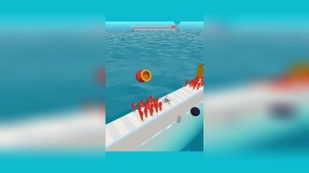 小游戏:后面的慢点跑啊,这下翻车了吧