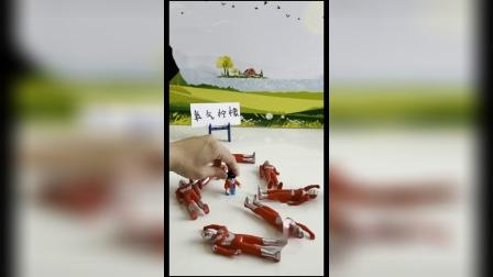 益智玩具:躺在奥特曼中间,我都觉得很有安全感