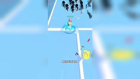 小游戏:海绵宝宝用水泡枪去征讨坏人