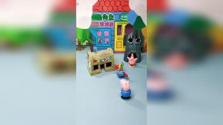 乔治来找海绵宝宝玩,海绵宝宝正在上班,蟹老板让海绵宝宝干活