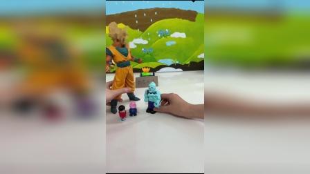 儿童玩具:超大型的孙悟空把僵尸赶跑了