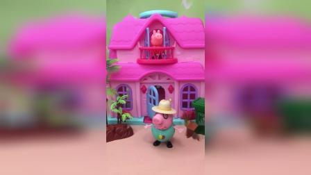 猪爸爸偷吃零食,被乔治发现了,乔治给他告诉妈妈