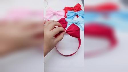 40号用丝带diy网红蝴蝶结发夹