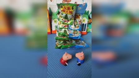 小猪佩奇买了玩具树,乔治以为是吃的,让佩奇给自己一包