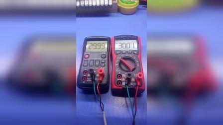 众仪ZT-X和ZT-Y万用表电压档对比测试