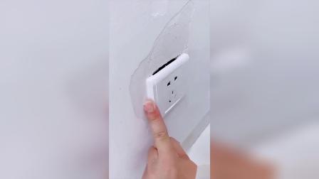 家里有大白墙起皮空鼓发霉的,用这个防水补墙膏一挤一刮轻松修补