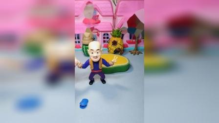 光头强带错了帽子,葫芦娃拿了光头强的帽子,光头强拿来了糖果