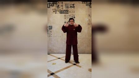 """040扎西传统杨氏太极拳85式入门教学(田雨林老师) 第85式""""收势""""及""""筑基功简介"""""""
