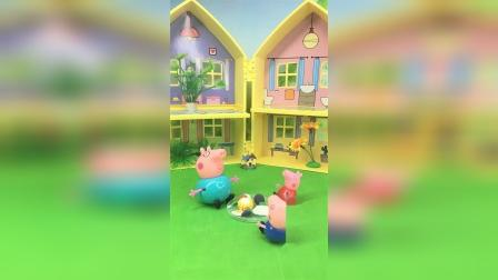猪爸爸总在吃饭时聊学习,佩奇乔治瞬间没了食欲