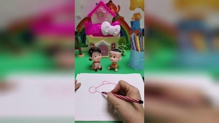 儿童玩具:大头儿子想要学画画
