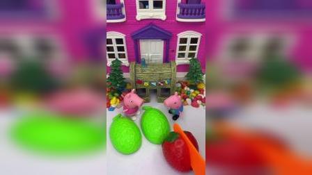 猪妈妈不在家,今天由佩奇来给乔治切水果,小朋友们给个评价吧!
