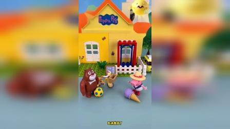 熊二不乖 居然不把玩具和乔治分享!