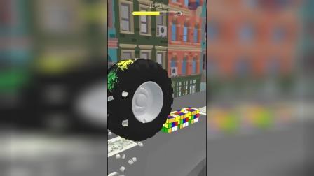 小游戏:车轮挤压颜料