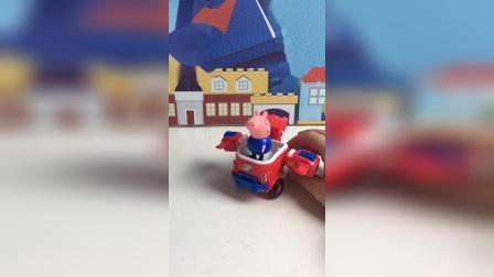 猪爸爸给乔治买了新车 超级酷炫!