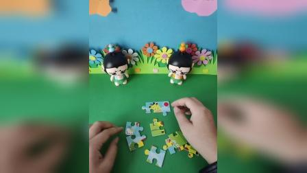 少儿益智:葫芦两兄弟合力拼拼图