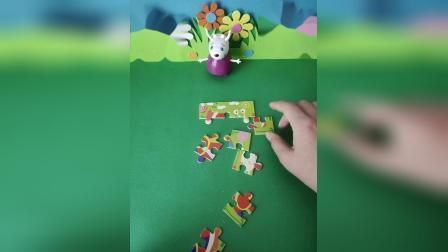 少儿益智:羚羊夫人拼蜗牛拼图