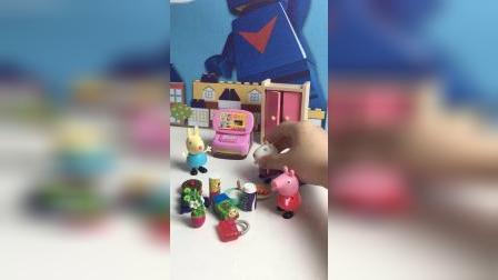 佩奇和朋友在玩过家家 真好玩!