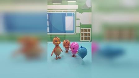 鸡妈妈要带孩子们去游乐场玩,大家好开心