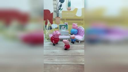 小猪佩奇一家猜谜语,小朋友们也来猜谜语吧!