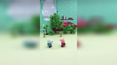 苏西去找佩奇玩,佩奇还送礼物给苏西!