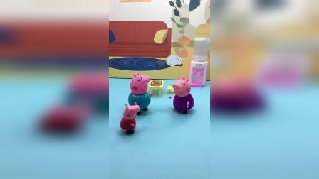 佩奇去找猪爷爷,可猪爷爷在菜地呢!