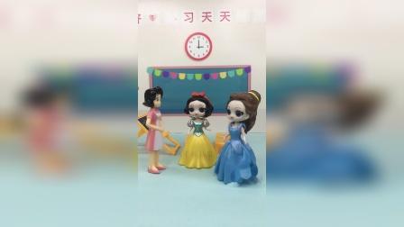 老师让白雪参加舞蹈比赛,贝儿也很想参加,贝儿不服气