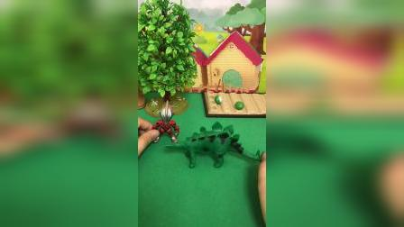 小恐龙种萝卜,奥特曼来帮忙