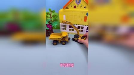 乔治开挖掘机可以帮助大卡车装沙子吗?