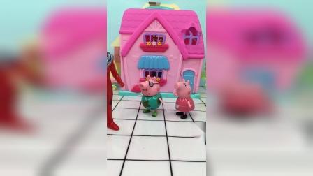 猪爸爸以为家里有怪兽,原来呀,是乔治做梦