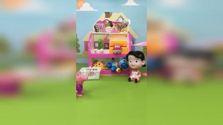 乔治的玩偶,找不到了,佩奇只能再买一个