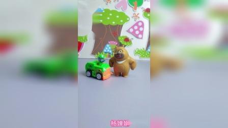 熊二遇上了收废品,还想卖废品呢