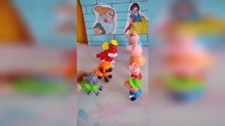 少儿玩具:猪爸爸把帽子还给小丽了