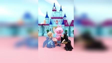 佩奇玩小仙女的魔法棒