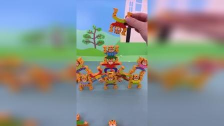 好玩的叠叠乐积木玩具