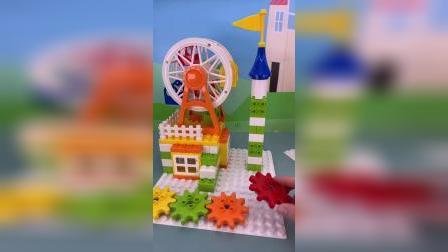 好玩的积木玩具 #玩具视频 #儿童玩具 #玩具