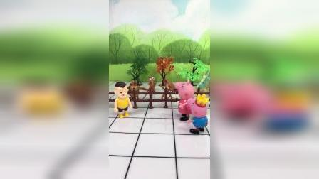 猪妈妈带乔治逛动物园,有恐龙,有猴子