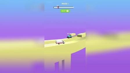 轮车比赛:轮子变大爬山变小加速