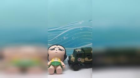 葫芦娃被救护车拉到医院去了