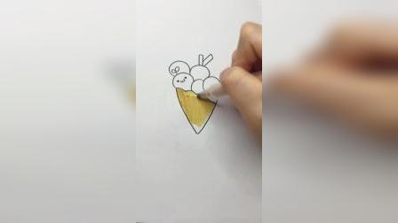 长草颜甜筒喜欢吗#简笔画
