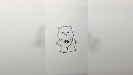 可爱小熊猫#简笔画