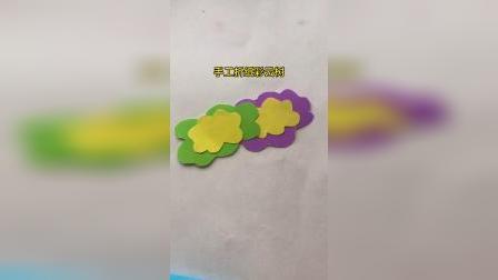 手工折纸彩云树
