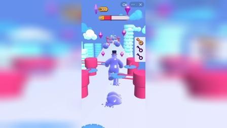 这个蓝色的果冻人是在干什么啊?