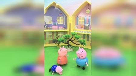 猪妈妈嘱咐猪爸爸,仔细看着小宝宝
