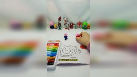乔治佩奇玩涂色游戏,蜗牛是什么样子的